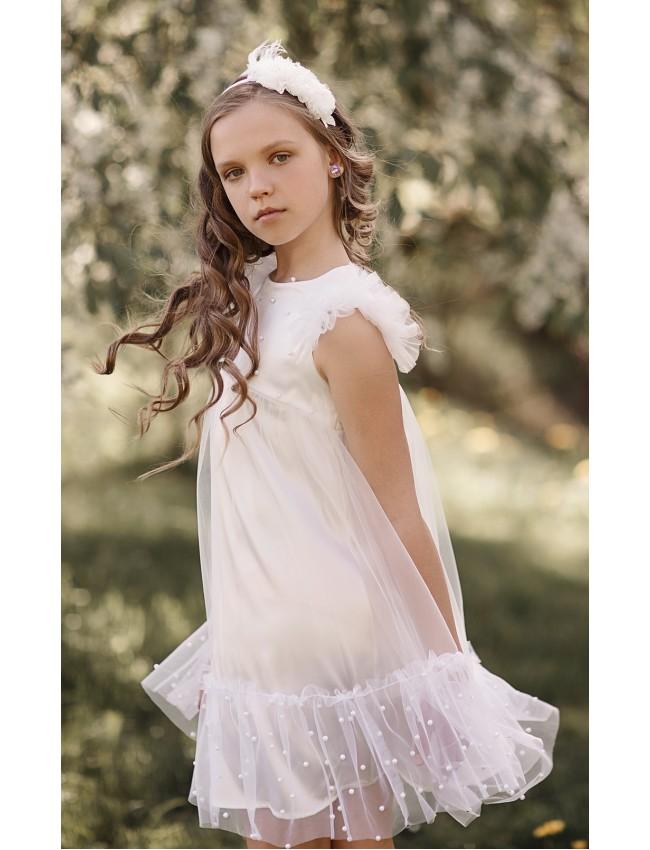 mergaitiška tiulinė suknelė